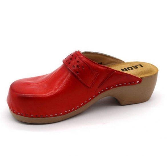 Leon Comfort női papucs - PU 154 Piros