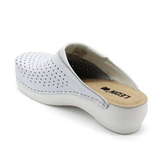 Leon Comfort női papucs - PU 100 Fehér