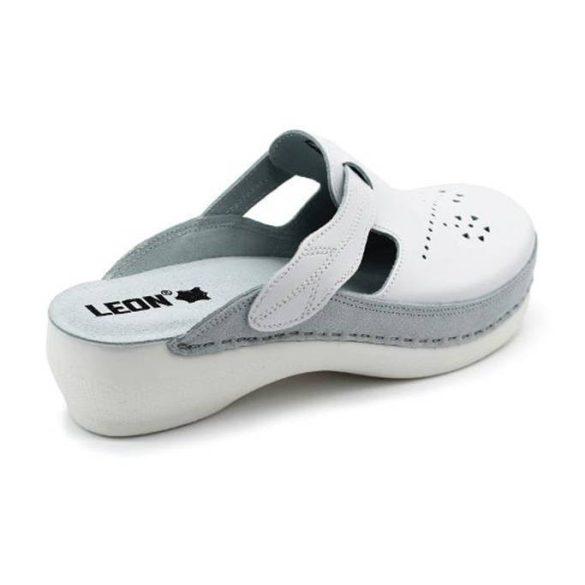 Leon Comfort női papucs - Pu 156 fehér